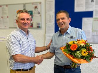Henry Mayer mit Geschäftsführer Roland Kraus