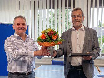 Rudi Claus mit Geschäftsführer Roland Kraus